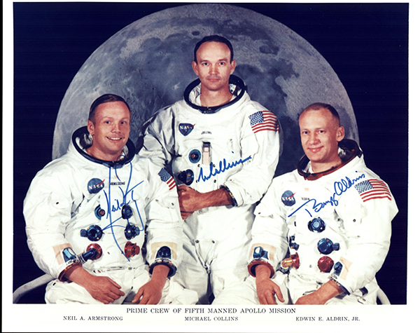 Apollo 11 Crew Armstrong Collins Aldrin Moon Mission Space NASA