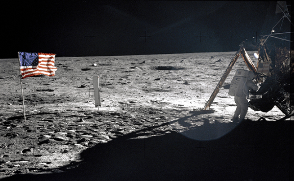 Armstrong on Moon Apollo 11 NASA