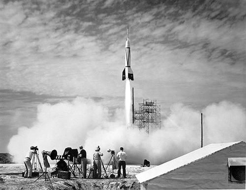 first rocket launch from Cape Canaveral Bumper V-2