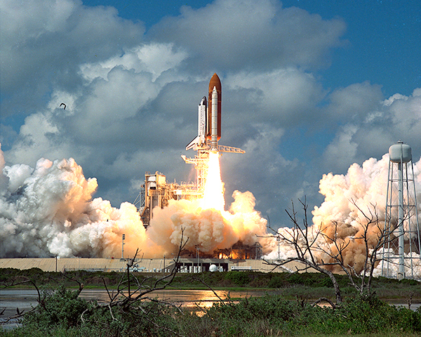 26th NASA Space Shuttle mission seventh flight orbiter Discover